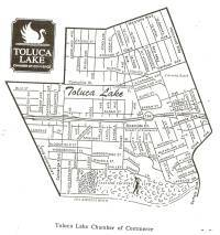 Toluca Lake Homes For Sale Boundary Map